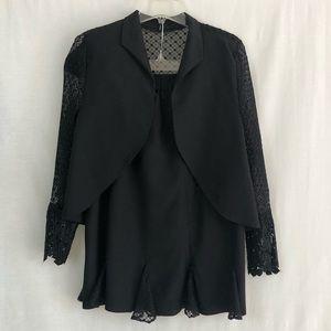 Vintage Sandro Black Skirt Suit